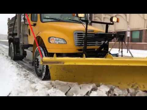 See the view from inside a Springfield DPW plow and sanding truck