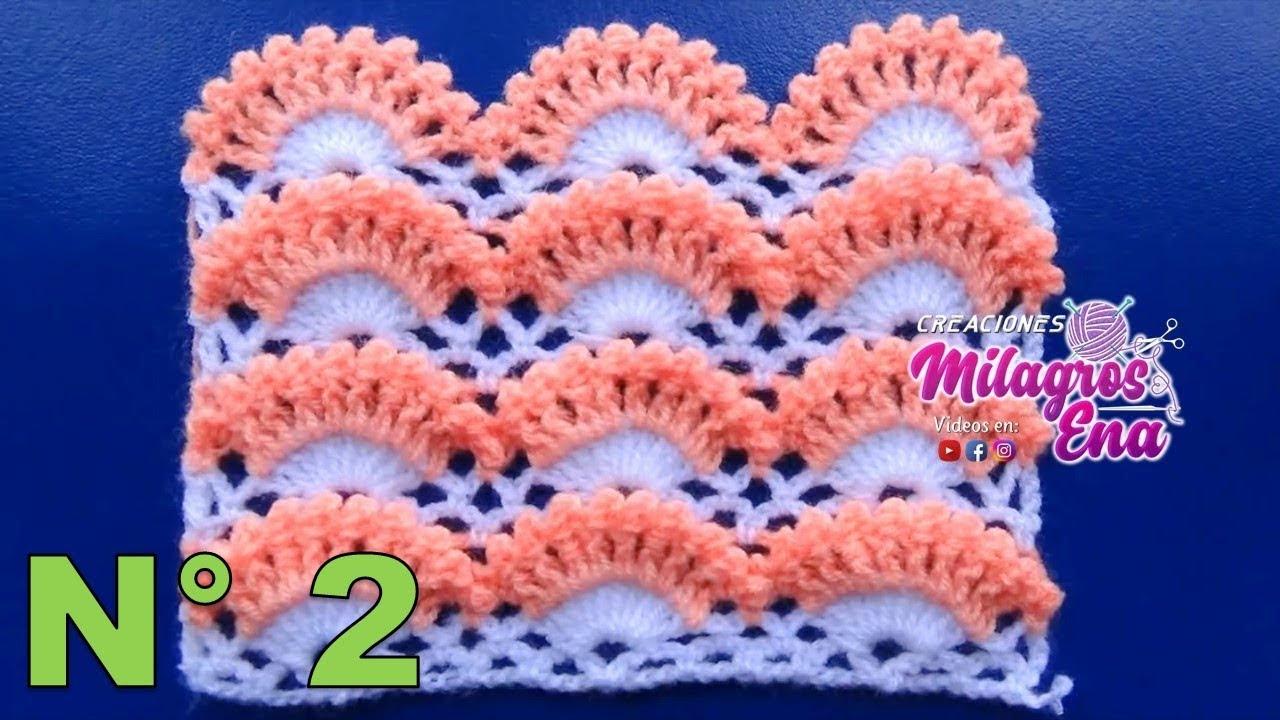 Punto a crochet PAVO REAL paso a paso para Mantitas de bebe, colchas ...