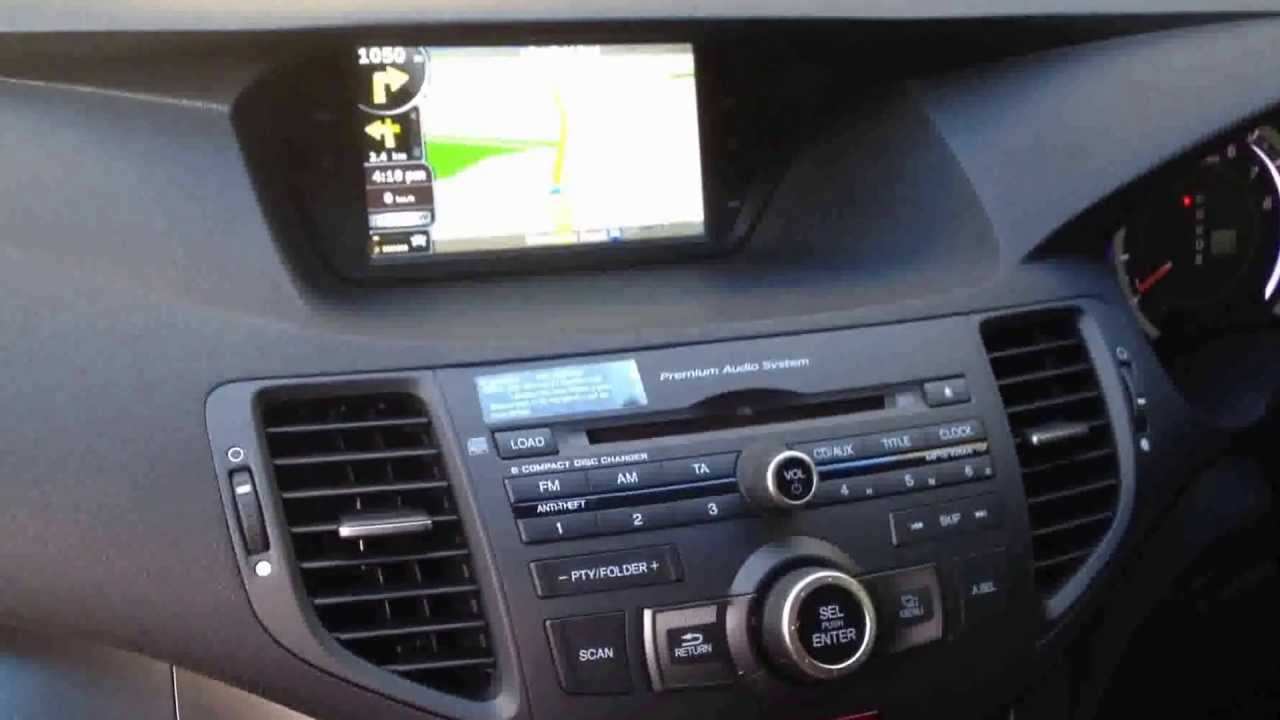 Honda Accord Euro 8 Gen Sat Nav Youtube