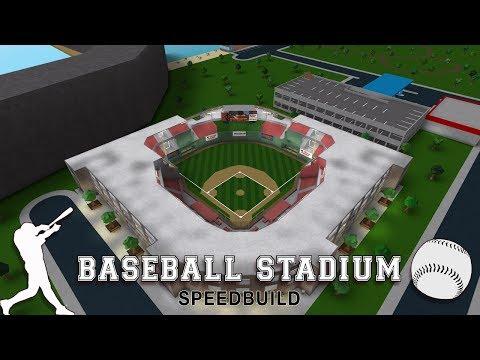 Roblox Bloxburg | Baseball Stadium Speedbuild