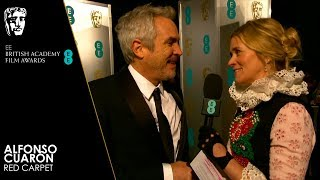Alfonso Cuarón Talks About Roma on the Red Carpet | EE BAFTA Film Awards 2019