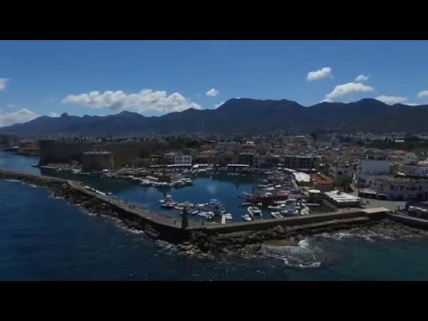 DJI Phantom 3 Advanced Flight Kyrenia Castle & Harbour TRNC North Cyprus Aerial Filming