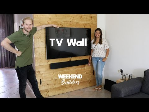 TV Wall (FAST EASY BUILD, €95 DIY) [subtitles included]