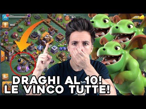 DRAGHI al 10, Le VINCO TUTTE, è ASSURDO! (Draghi al 9) | Nuovo Villaggio Clash of Clans ITA