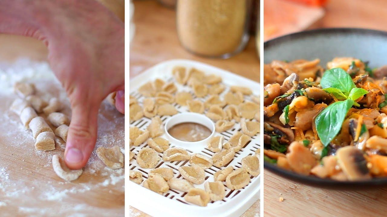 Pâtes sèches maison - Complètes ou sans gluten - Déshydrateur