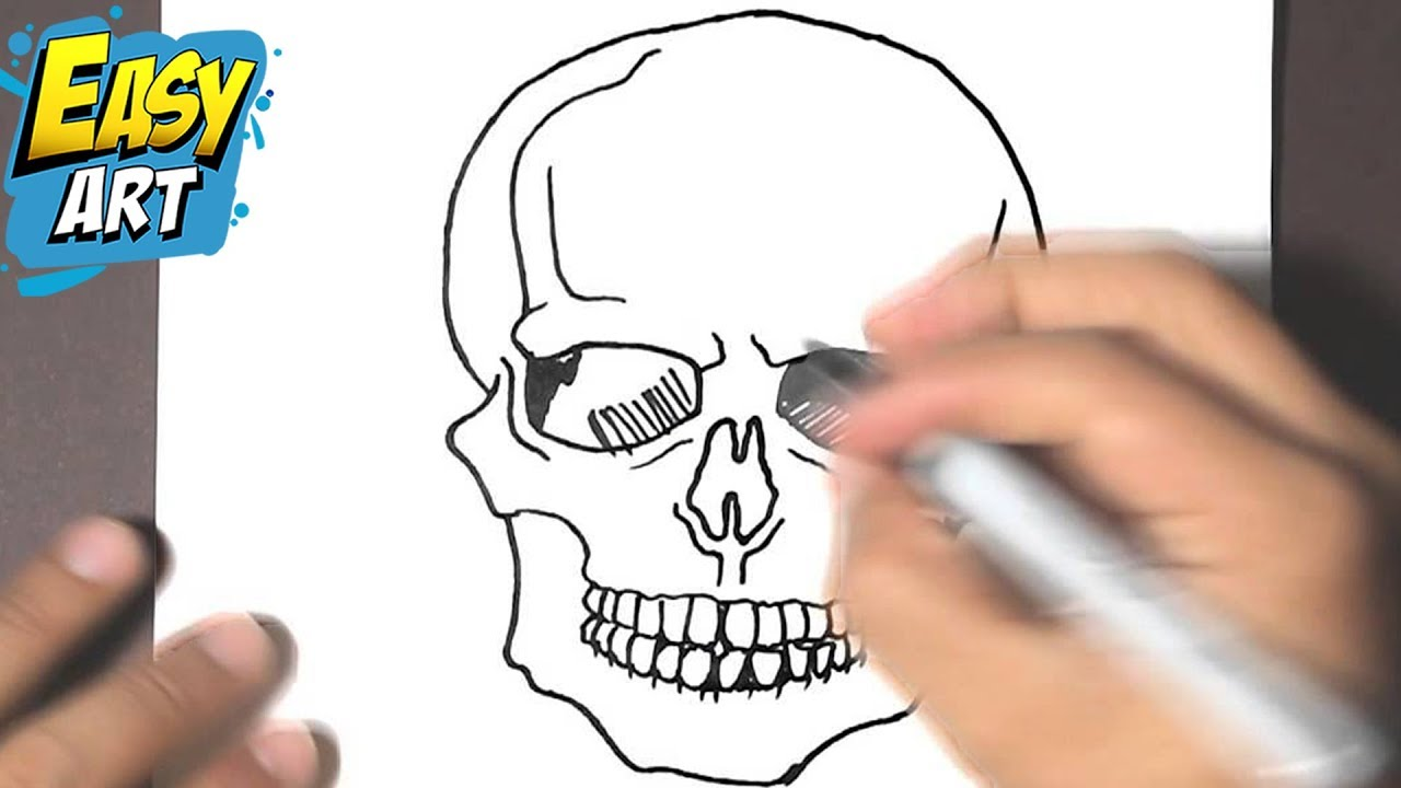 How To Draw A Skull Halloween How To Draw A Skull Como Dibujar