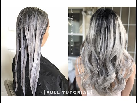 [FULL TUTORIAL] how to babylights balayage on black/dark hair + bleach wash + color melt tone