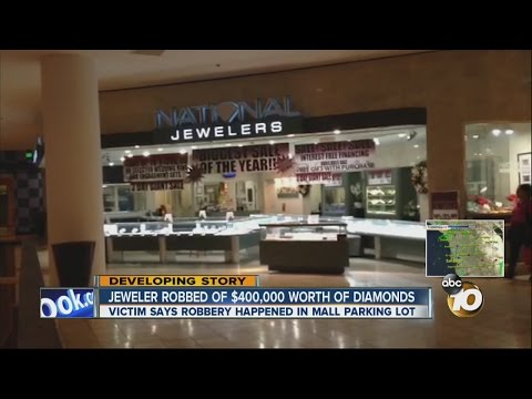 $400K in loose diamonds taken during armed robbery in Westfield Plaza Bonita mall parking lot
