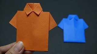 How to Make Paper Shirt | DIY Origami Paper Crafts | Easy Origami