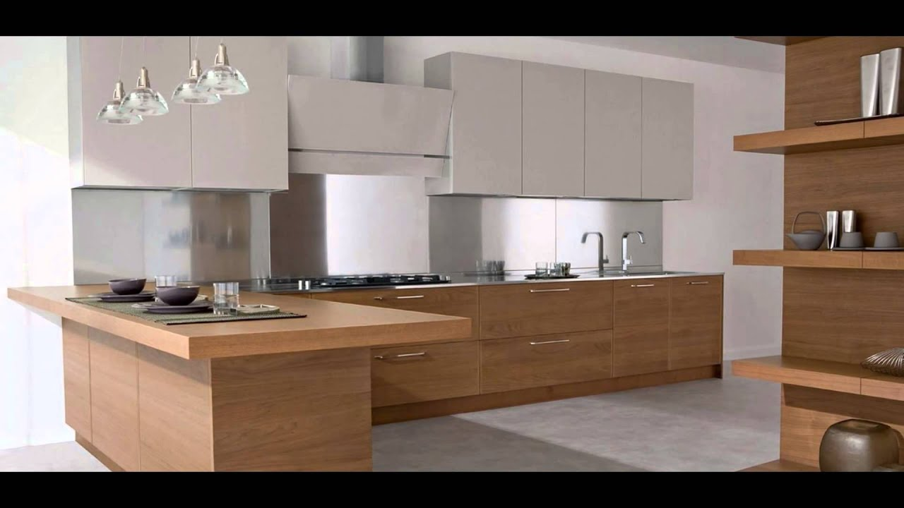 Modern Light Wood Kitchen Cabinets Modern Kitchen Cabinet Light Wood  Youtube