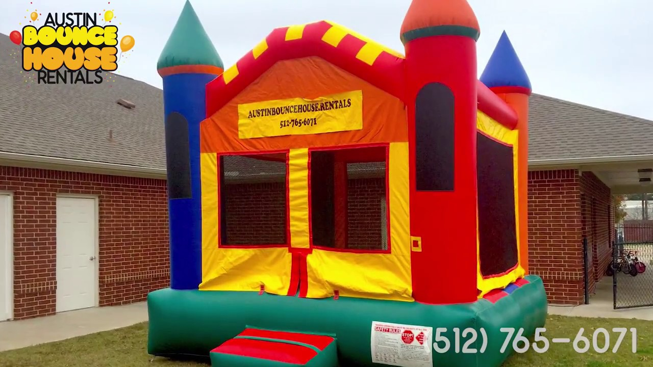 Austin Bounce House Rentals Rainy Birthday Party Bounce House in