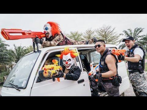 LTT Films : Suicide Squad Seal XXx Nerf Guns Fight Criminal Group Tiger Mask Nerf War