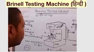 BRINELL TESTING MACHINE (हिन्दी )!LEARN AND GROW