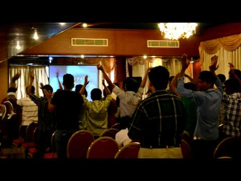 Worship at Sion Christian Fellowship youth retreat