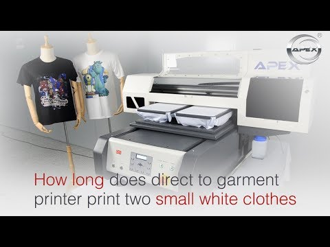 How Long Does Direct To Garment Printer Print Two Small White Clothes