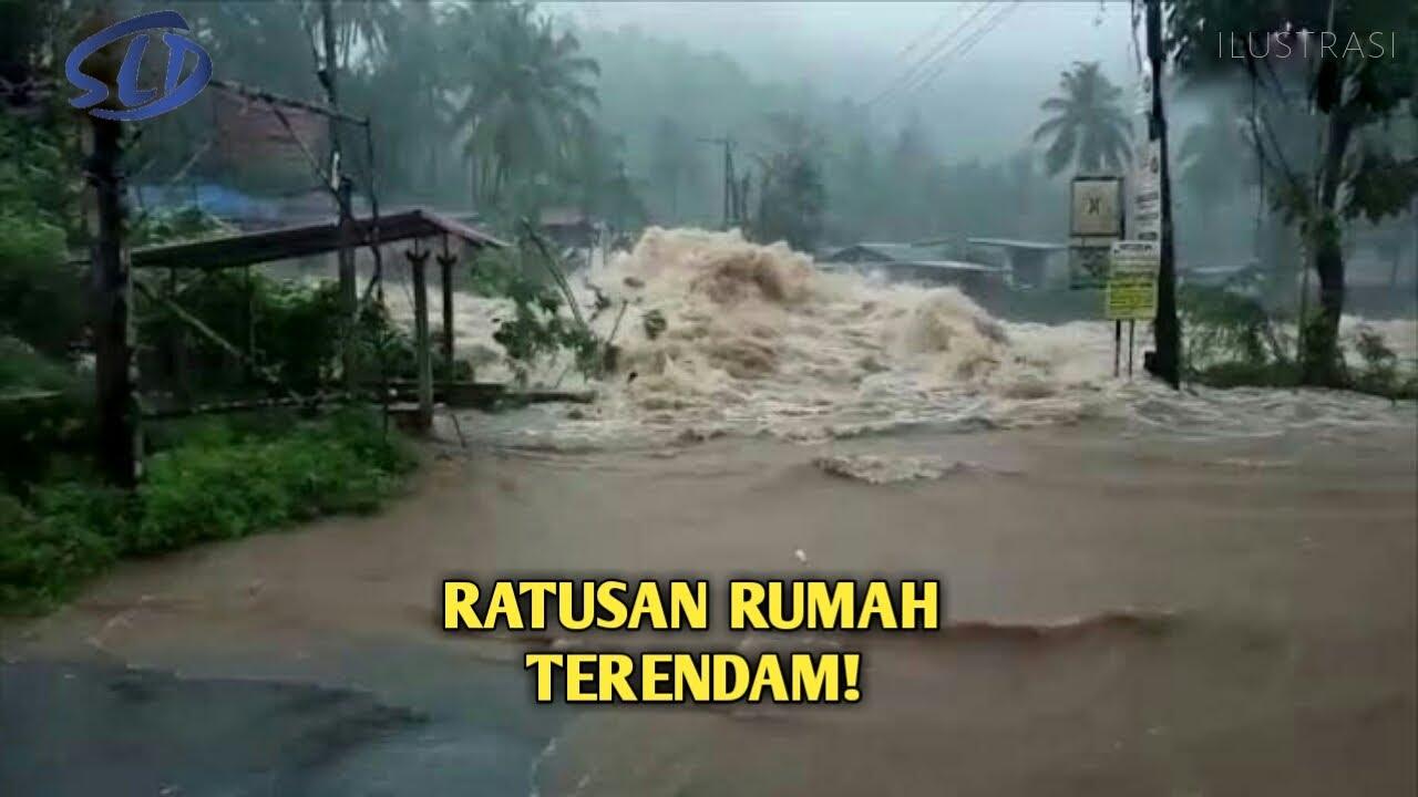 Ngeri..Detik² Derasnya Banjir Bandang Terjang OKU SUMSEL, Jembatan Sampai Rusak