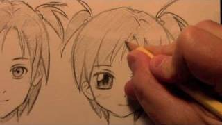 How to Draw a Manga Face, 3 Different Ways [HTD Video #9](OFFICIAL CRILLEY PLAYLIST: _http://tinyurl.com/d3rx7fg All 3