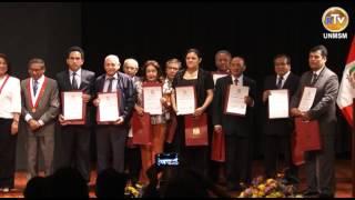 CEREMONIA DE PREMIACIÓN A LOS DOCENTES Y ESTUDIANTES PRIMEROS PUESTOS UNMSM - 2014