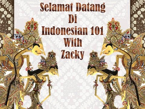 Introduction to Indonesian - Learn Real Bahasa Indonesia #1
