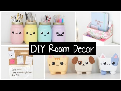 Diy room decor organization easy inexpensive ideas for Diy room decorations youtube