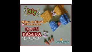 Diy – Aplique de Páscoa sem ferramentas em Biscuit