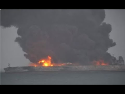 Oil Tanker That Collided With A Freight Ship At Risk Of Exploding After Collision