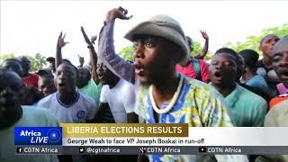 George Weah to face VP Joseph Boakai in run-off