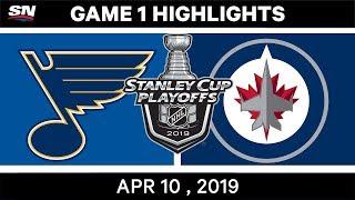 NHL Highlights | St. Louis Blues vs Winnipeg Jets, Game 1 - April 10, 2019