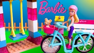 Barbie Mega Bloks Fab Park Barbie Doll Lego Barbie Bike Juguetes Toy Videos