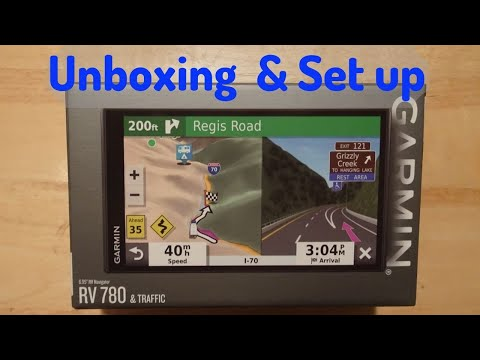 Garmin RV 780 GPS - Unboxing and Setup