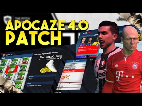 [TTB] - PES 2017 Apocaze Patch 4.0 - Updated Transfers, New Boots, Stadiums, Teams & More!