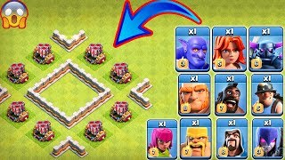 8x Geared Up Mortar vs All Troops Clash of Clans Gameplay | Max Gear Up Mortar vs Every Single Troop
