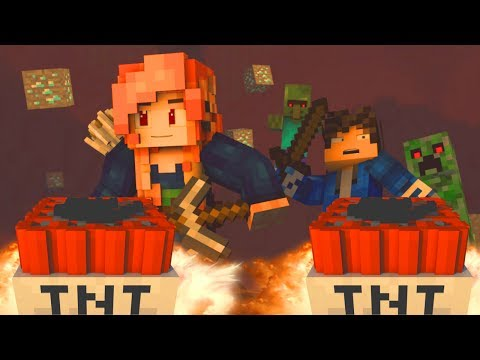 "♫ ""MINES BELOW"" - MINECRAFT PARODY OF ""ALL WE KNOW"" BY THE CHAINSMOKERS (ANIMATED MUSIC VIDEO) ♫"