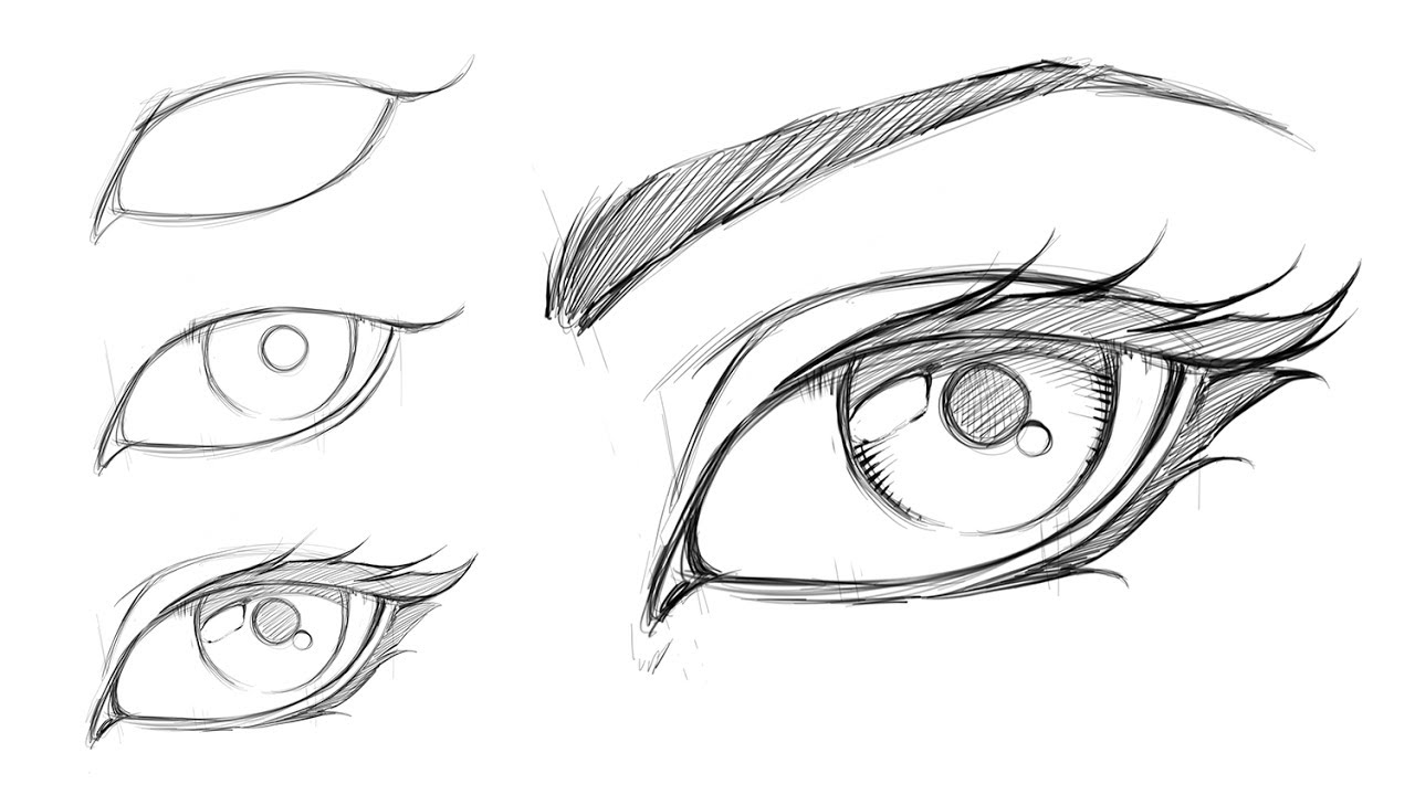 How to Draw a Comic Style Female Eye - Step by Step - YouTube
