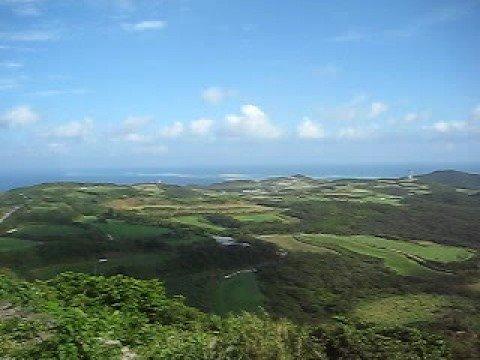 久米島の宇江城城趾からのパノラマ風景