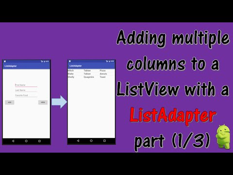 Adding multiple columns to your ListView (part 1/3)
