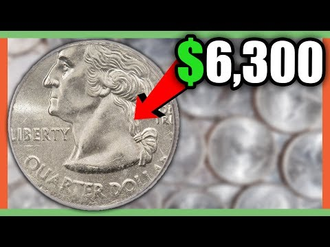 $6,300 RARE QUARTER TO LOOK FOR - STATE QUARTERS WORTH MONEY!!!