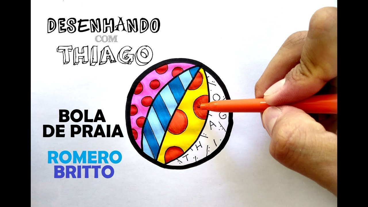 Bola De Praia Romero Britto Desenhando Com Thiago 204 Youtube