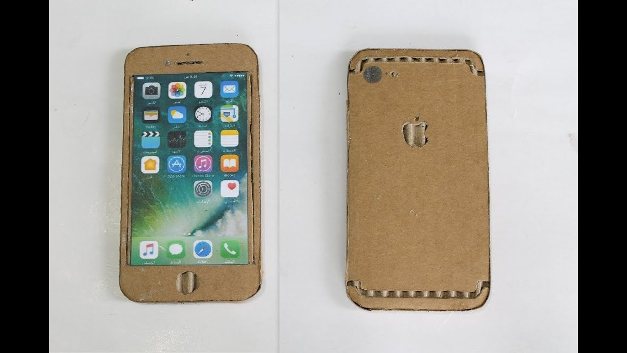 make a cardboard cell phone