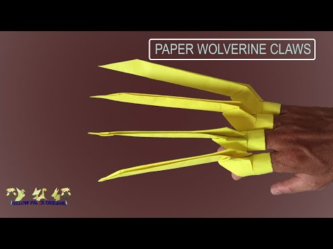 How to Make Paper Claws - Easy Origami Folds - Wolverine DIY
