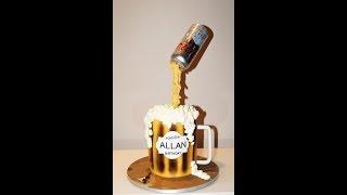 Cake decorating tutorials | how to make a beer mug cake | Sugarela Sweets