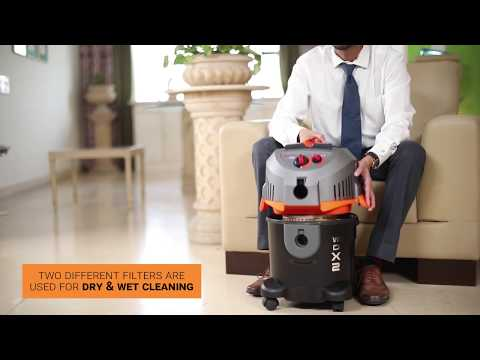 Euroclean WD X2 Wet & Dry Vacuum Cleaner   Swiss design   Deep Cleaning+ Technology (Full Demo)