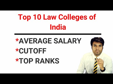 Salary & Cut Off/Rank of Top 10 Law Colleges in India   Edutorial