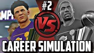 SIMULATING LONZO BALL'S & MAGIC JOHNSON'S NBA CAREERS!! PART 2!! #CareerSimVS