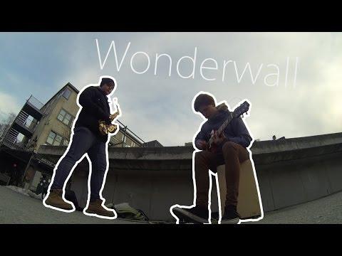 Oasis - Wonderwall (Saxophone cover) Street performance - busking