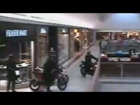 Motorcycle-Riding Jewel Thieves' Heist Caught on Surveillance Tape in U.K Mall