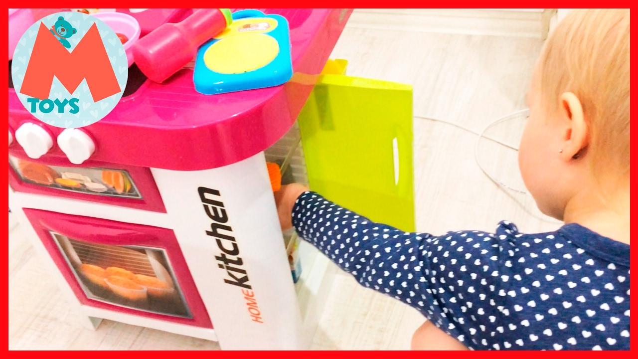 Кухня игрушечная с приборами. Распаковка большого набора Детская .