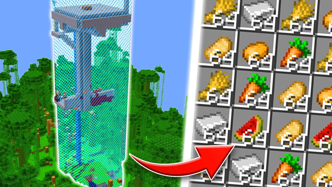 Building AUTOMATIC FARMS In A One Chunk Minecraft World! (#2)