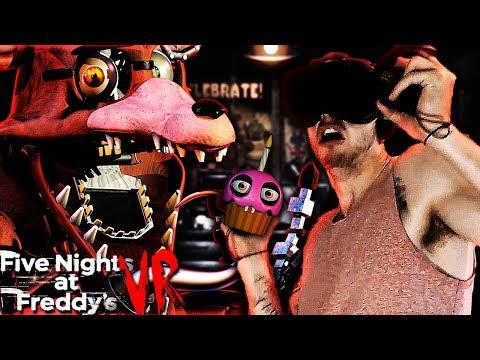 CUPCAKE CAN'T SAVE ME FROM FOXY! | Five Nights at Freddy's VR Night 2 Gameplay!