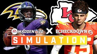 Kansas City Chiefs vs. Baltimore Ravens Week 3 Full Game | 2020 Season Madden Simulation